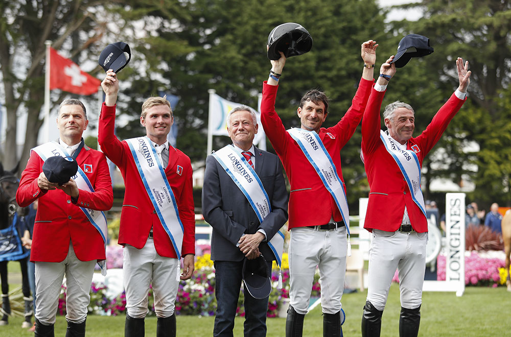 The Swiss team won the first 2019 Longines FEI Jumping Nations Cup in La Baule (credit: Tiffany van Halle).